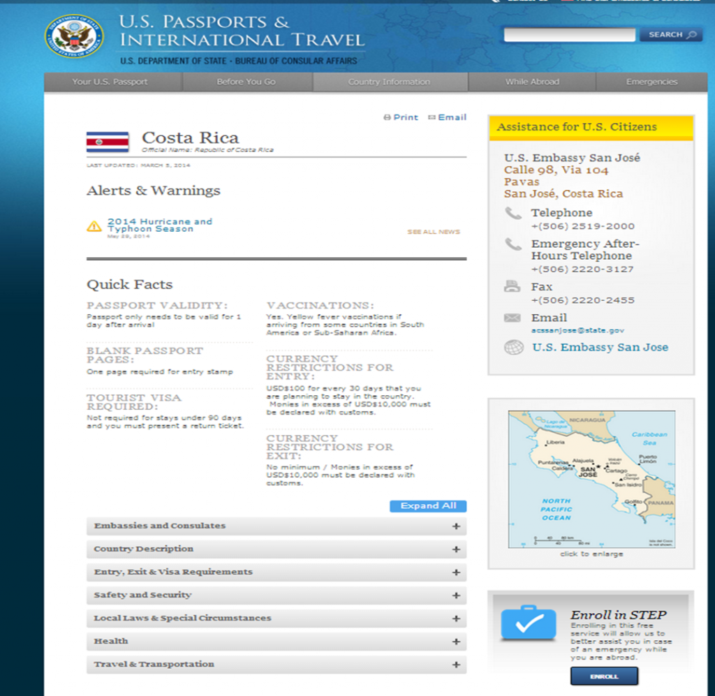 Us department of state bureau of consular affairs costa rica nc state extension - Us department of state bureau of administration ...