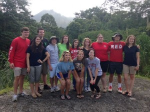 Group Photo at Arenal Volcano
